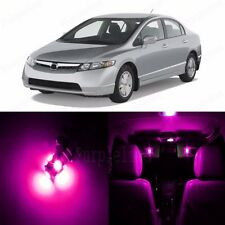 8 x Ultra Pink LED Lights Interior Package For Honda CIVIC 2006 2012 Coupe Sedan