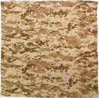 "Digital Desert Camouflage Cotton Bandana (22"" x 22"")"