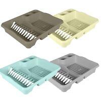 Large Plastic Dish Drainer Board Plate Cutlery Sink Rack Holder Kitchen Storage