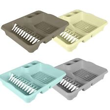 Large Plastic Dish Drainer Board Plate Cutlery Sink Rack Holder Kitchen Storage