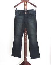 Baby Phat Junior size 7 Dark Wash Boot Cut Denim Jeans Rhinestone Pocket Bling