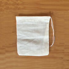 200 Pack 3x4inch Natural Cotton Muslin Drawstring Bags Tea Spice Herbs Soap