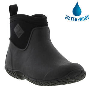 Muck Boots Muckster II Womens Black Wellington Short Chelsea Wellies Size 4-8