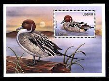 Liberia 1215 MNH 1996 Birds: Red Northern Pintail-Anas acuta.  x19059