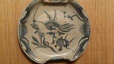 Museum Quality  Momoyama Period  (1568)  E-Shino Dish W/ Gosu Decoration