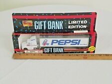 1995 Limited Edition Pepsi-Cola Semi Truck & Trailer Coins Bank SEALED BOX