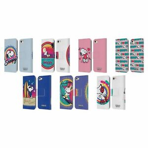 PEANUTS SNOOPY BOARDWALK AIRBRUSH LEATHER BOOK CASE FOR APPLE iPOD TOUCH MP3