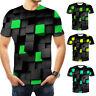 Men Casual 3D Printed Shirt Tops Summer Tee Short Sleeve Round Neck T-Shirt