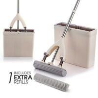 Hard Floor Sponge Mop Microfiber Magic PVA Sponge Mops Bucket Easy Cleaning Dry
