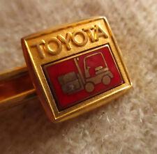 True Vtg Toyota Forklift Advertising Enameled Tie Bar Clip Tieclip