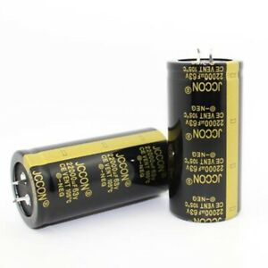 2 pieces JCCON 22000uF63V Audio Electrolytic Power Capacitors.