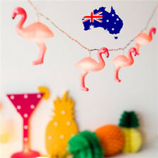 3D Tropical Pink Flamingos Party Plastic String Light Battery Operated  ON