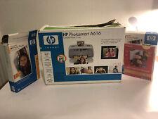 HP PHOTOSMART A616 DIGITAL PHOTO INKJET PRINTER - TESTED AND WORKS!!! Fast Ship
