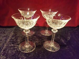 4 Coupes à Champagne en Cristal de St Louis modèle Tommy