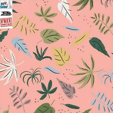 Organic Cotton Fabric, 'Pink Foliage from Garden of Eden ' Cloud9 Quilters Nine
