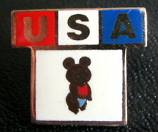 SUMMER OLYMPIC GAMES MOSCOW 1980 - TEAM OF USA. VERY RARE  BADGE