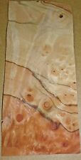 "Pimento Nogal Burl wood veneer 2"" x 5"" raw with no backing 1/32""-1/42"" thick"