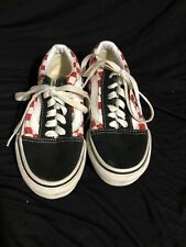 Vans shoes red black checkerboard skate shoes kids size 12 free shipping