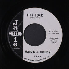 MARVIN & JOHNNY: Tick Tock / Once Upon A Time 45 (dj) Oldies