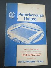 Peterborough United  V  Darlington  1966/7