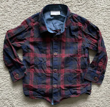 Next Signature Boys Shirt 12-18 Months Red And Navy