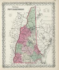 """1860 Colton's  """"New Hampshire""""-original, county map"""