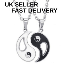 YING & YANG BEST BFF FRIENDS NECKLACE PENDANT CHAIN SET YIN AND YANG UK SELLER