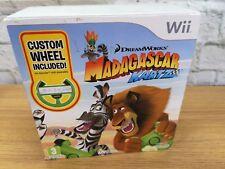 Madagascar Kartz Wii Bundle Game With Wii Wheel (J1)