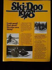 New listing Vintage 1978 Ski-Doo Snowmobile Sales Brochure 4 Pages Excellent