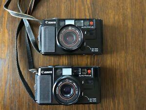 2x Canon AF35M analoge Kompaktkamera mit Bedienungsanleitung, Top!
