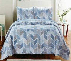 Luxury Quilted Bedspread/Coverlet Throw Blanket 3pcs Set 250x260cm HS002
