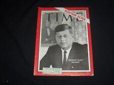 1960 NOVEMBER 16 TIME MAGAZINE - PRESIDENT-ELECT KENNEDY, ELECTION EXTRA- T 1770