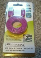 NEW! PowerXcel Sync & Charge Cable purple 3 Ft. For iPod iPad iPhone