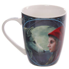 Lisa Parker Moonstruck Red Riding Hood Wolf Moon Gothic Celtic Boxed China Cup