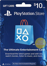 US $10 PLAYSTATION NETWORK 10 USD Prepaid Card PSN for PS3 PS4 PSP Gift KEY