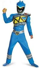 Power Rangers Dino Charge Blue Muscle Ranger Costume Size 10-12 New Large