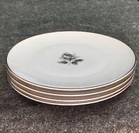 """4 Vintage Saladmaster Estate Remembrance 10-1/2"""" Dinner Plate Porcelain Bavaria"""