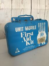 Vintage Metal ACME Cotton Products Co. Blue First Aid Kit Box, #10. f