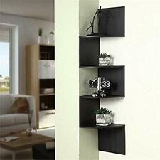 Hanging Corner Shelf Shelving ZigZag Display Black Contemporary Space Saver
