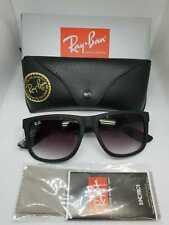 Ray-Ban Justin 4165 601/8g Sunglasses Matte Black 55mm - Like Brand New