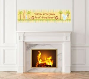 Jungle Safari Party - Baby Shower Printed Banner - Indoor Outdoor Jungle Banner