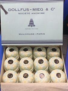 Vtg 12 DMC Coton Perle Dollfus Mieg & C DMC Paris No 8 Variegated 100 yds each