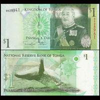 Tonga 1 Pa'anga Banknote, 2014, P-NEW, UNC, Oceania Paper Money