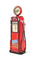 """Gas Pump Vintage Antique Reproduction Metal Model 21"""" w/ Clock Automotive Decor"""