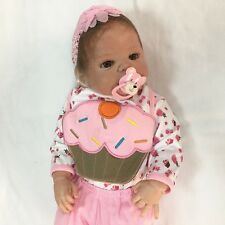 23'' Handmade Full Body Silicone Reborn Babies Girl Dolls Soft Newborn Bath Bebe