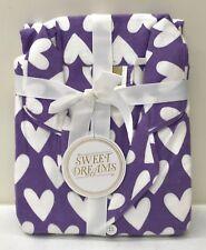 NEW Pottery Barn TEEN Sweet Dreams HEARTS Flannel LARGE Pajama Set, PURPLE