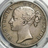 1844 PCGS VF 20 Victoria Crown Great Britain Silver Coin 94K minted (20053101C)