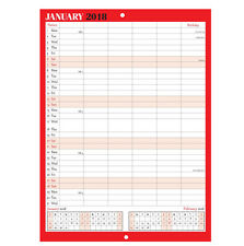 2018 Family Appointment Planner/Calendar One Month to View/home/office Black&Red