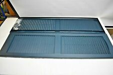 Window Shutters 14.5 in. x 51 in. Louvered Vinyl Exterior Shutters Pair
