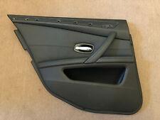 BMW E60/E61 LCI REAR LEFT DOOR CARD DAKOTA BLACK LEATHER 6984389